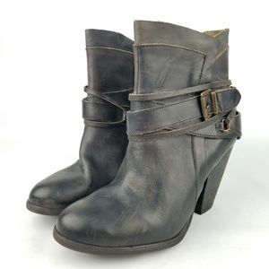 11c06aac3d8 Steve Madden Nadal Western Moto Boot Leather
